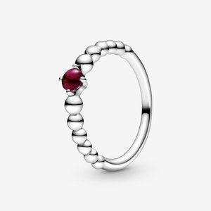 🔥PANDORA Dark Red Beaded Ring
